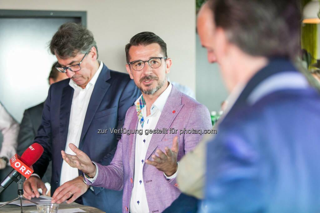 Stefan Pierer (CEO KTM Industries), Roman Sindelar, Alex Vogel, Philip Rusch, © Martina Draper (27.07.2016)