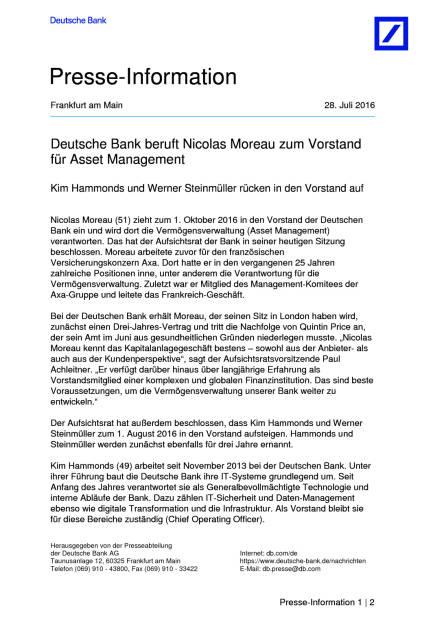 Deutsche Bank: Neue Vorstände, Seite 1/2, komplettes Dokument unter http://boerse-social.com/static/uploads/file_1522_deutsche_bank_neue_vorstande.pdf (28.07.2016)