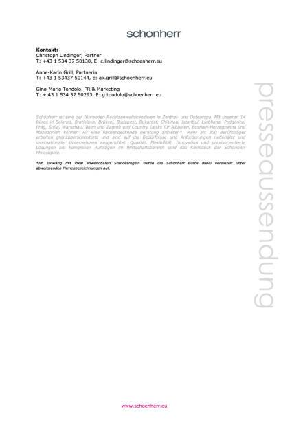 Schönherr: Investitionsschutz-Schiedsverfahren zugunsten der Republik Montenegro , Seite 2/2, komplettes Dokument unter http://boerse-social.com/static/uploads/file_1523_schonherr_investitionsschutz-schiedsverfahren_zugunsten_der_republik_montenegro.pdf (28.07.2016)