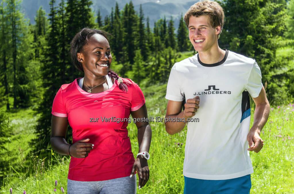 J. Lindeberg: Sabrina Simader vom kenianischen Skiteam und Paul Gerstgraser, Nordischer Kombinierer Österreich (C) Brandlion, Ch. Buchegger, © Aussendung (28.07.2016)