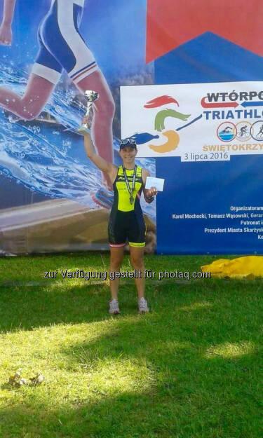 Martina Kaltenreiner beim Triathlon Świętokrzyski in Polen (29.07.2016)