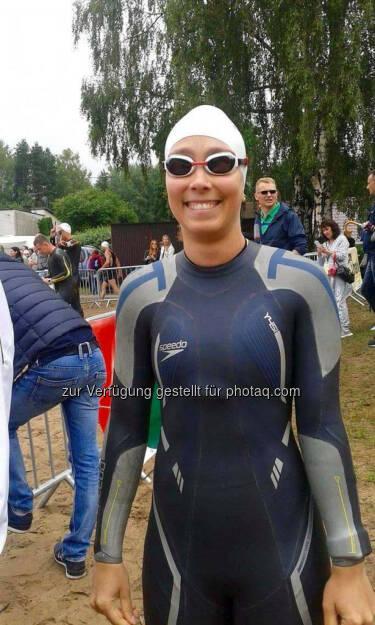 Martina Kaltenreiner, Die Speedo AUT - Fliege kurz vor dem Start (29.07.2016)