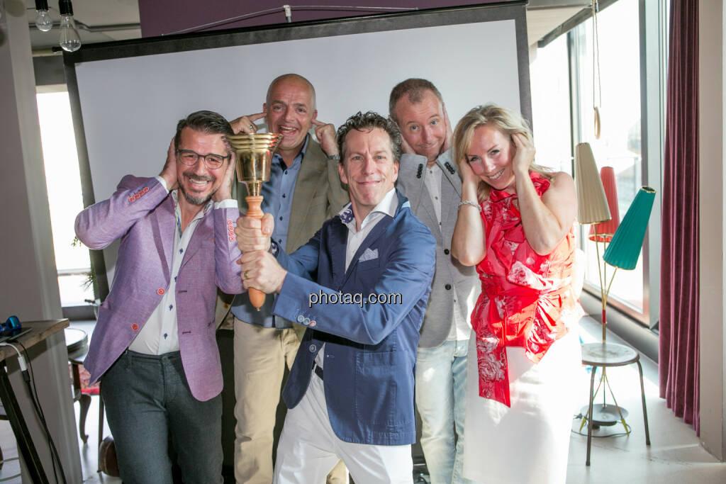 Roman Sindelar, Alex Vogel, Philip Rusch, Claus Westermayer, Ulrike Mülleder, alle 361focus, © Martina Draper/photaq (30.07.2016)