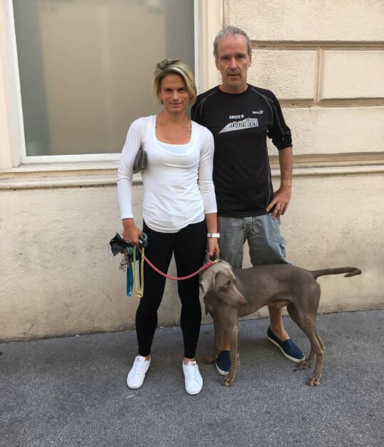 Mit Elisabeth Niedereder und Superhund Arco (07.08.2016)