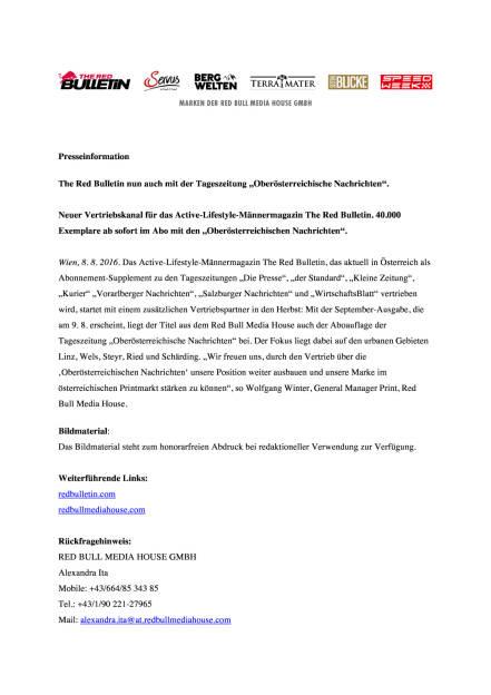 The Red Bulletin mit den Oberösterreichischen Nachrichten, Seite 1/2, komplettes Dokument unter http://boerse-social.com/static/uploads/file_1576_the_red_bulletin_mit_den_oberosterreichischen_nachrichten.pdf (08.08.2016)