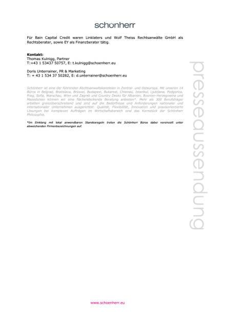 Schönherr berät HETA beim Verkauf von HETA Italien, Seite 2/2, komplettes Dokument unter http://boerse-social.com/static/uploads/file_1577_schonherr_berat_heta_beim_verkauf_von_heta_italien.pdf (08.08.2016)