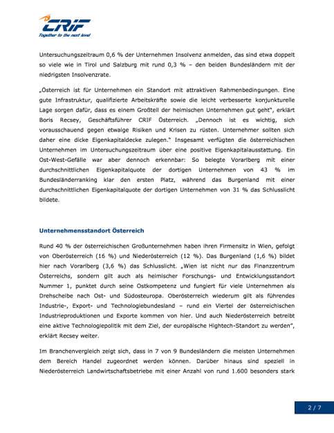 CRIF: Österreichische Unternehmen im Focus, Seite 2/7, komplettes Dokument unter http://boerse-social.com/static/uploads/file_1578_crif_osterreichische_unternehmen_im_focus.pdf (08.08.2016)