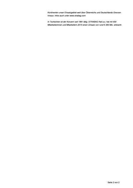 Strabag erneuert Bahnstrecke im Süden Tschechiens, Seite 2/2, komplettes Dokument unter http://boerse-social.com/static/uploads/file_1587_strabag_erneuert_bahnstrecke_im_suden_tschechiens.pdf (09.08.2016)