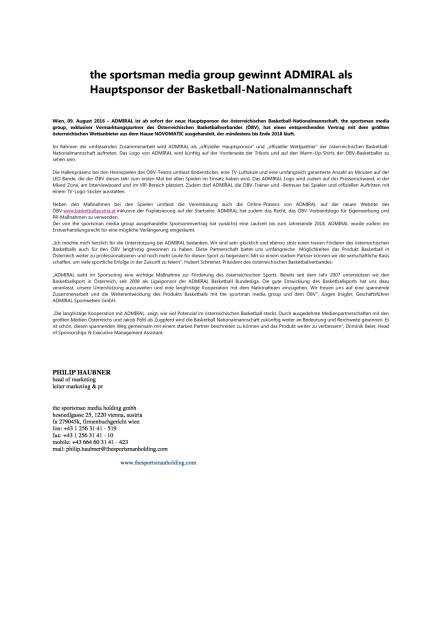 Admiral Hauptsponsor der Basketball-Nationalmannschaft, Seite 1/1, komplettes Dokument unter http://boerse-social.com/static/uploads/file_1589_admiral_hauptsponsor_der_basketball-nationalmannschaft.pdf (09.08.2016)