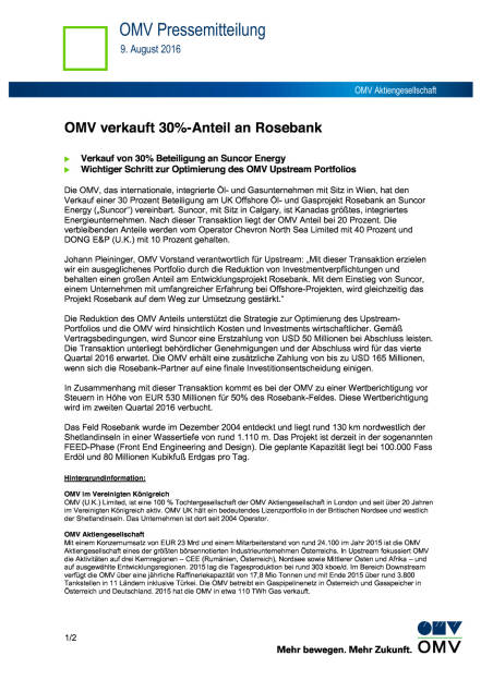 OMV verkauft 30%-Anteil an Rosebank, Seite 1/2, komplettes Dokument unter http://boerse-social.com/static/uploads/file_1591_omv_verkauft_30-anteil_an_rosebank.pdf (09.08.2016)