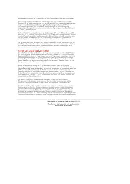 E.ON mit solidem operativen Ergebnis im Kerngeschäft, Seite 2/2, komplettes Dokument unter http://boerse-social.com/static/uploads/file_1595_eon_mit_solidem_operativen_ergebnis_im_kerngeschaft.pdf (10.08.2016)