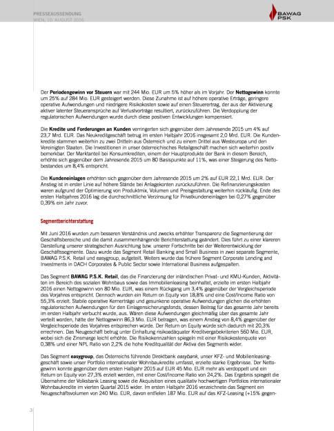 Bawag P.S.K. Halbjahresergebnis, Seite 3/10, komplettes Dokument unter http://boerse-social.com/static/uploads/file_1597_bawag_psk_halbjahresergebnis.pdf (10.08.2016)
