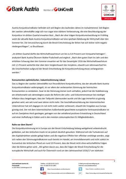 Bank Austria: Keine Spur von  Brexit-Folgen in Österreichs Wirtschaft, Seite 2/5, komplettes Dokument unter http://boerse-social.com/static/uploads/file_1619_bank_austria_keine_spur_von_brexit-folgen_in_osterreichs_wirtschaft.pdf (16.08.2016)