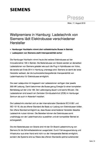 Siemens: Ladetechnik Elektrobusse, Seite 1/2, komplettes Dokument unter http://boerse-social.com/static/uploads/file_1628_siemens_ladetechnik_elektrobusse.pdf (17.08.2016)