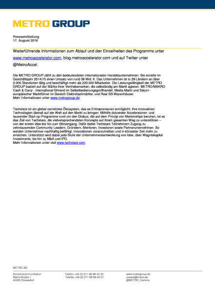 Metro Accelerator und Techstars: Gastronomie 2.0, Seite 3/3, komplettes Dokument unter http://boerse-social.com/static/uploads/file_1627_metro_accelerator_und_techstars_gastronomie_20.pdf (17.08.2016)