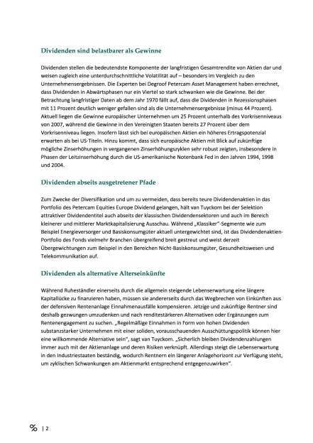 Degroof Petercam: Dividendenstrategien im magischen Dreieck, Seite 2/3, komplettes Dokument unter http://boerse-social.com/static/uploads/file_1632_degroof_petercam_dividendenstrategien_im_magischen_dreieck.pdf (17.08.2016)