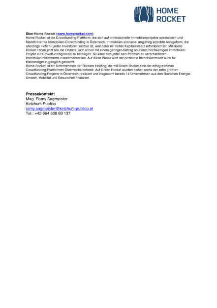 Home Rocket: Erstes Projekt in Deutschland, Seite 2/2, komplettes Dokument unter http://boerse-social.com/static/uploads/file_1631_home_rocket_erstes_projekt_in_deutschland.pdf (17.08.2016)