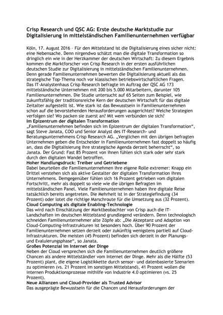 Crisp Research und QSC AG: Marktstudie Familienunternehmen, Seite 1/2, komplettes Dokument unter http://boerse-social.com/static/uploads/file_1630_crisp_research_und_qsc_ag_marktstudie_familienunternehmen.pdf (17.08.2016)