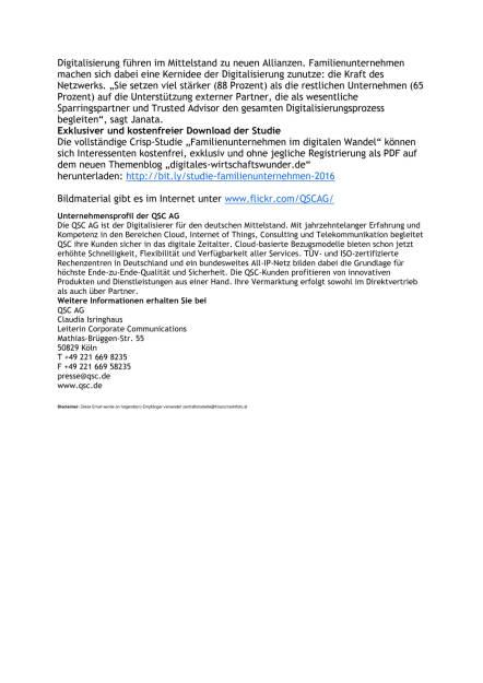 Crisp Research und QSC AG: Marktstudie Familienunternehmen, Seite 2/2, komplettes Dokument unter http://boerse-social.com/static/uploads/file_1630_crisp_research_und_qsc_ag_marktstudie_familienunternehmen.pdf (17.08.2016)