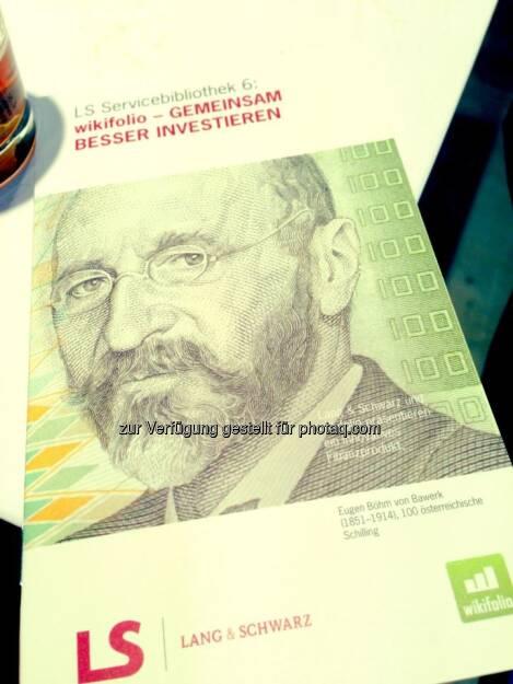 Lang & Schwarz, wikifolio - Invest 2013, © wikifolio (24.04.2013)