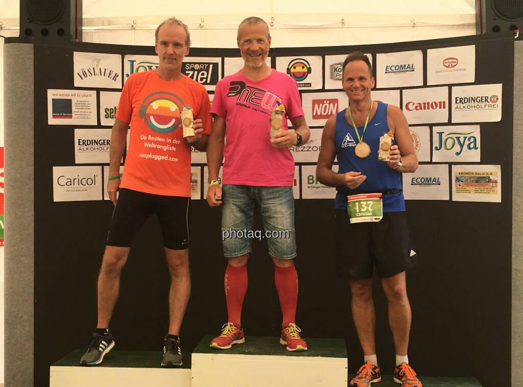 AK 40: Sieg an Emil Jaidhauser vor Christian Drastil, © Handypics diverse. (28.08.2016)