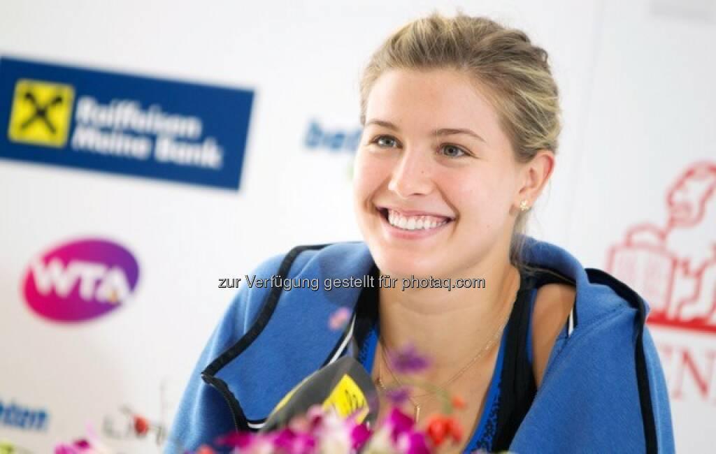 Eugenie Bouchard macht ihr Versprechen wahr und kommt zum Generali Ladies Linz 2016 : Fotocredit: GEPA pictures, © Aussendung (29.08.2016)