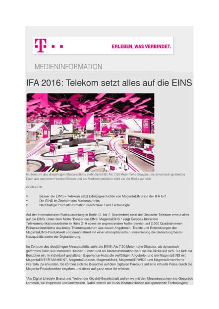 Deutsche Telekom: IFA 2016, Seite 1/2, komplettes Dokument unter http://boerse-social.com/static/uploads/file_1684_deutsche_telekom_ifa_2016.pdf (29.08.2016)