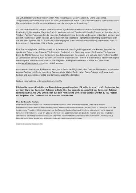Deutsche Telekom: IFA 2016, Seite 2/2, komplettes Dokument unter http://boerse-social.com/static/uploads/file_1684_deutsche_telekom_ifa_2016.pdf (29.08.2016)