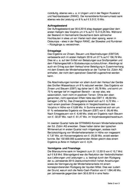 Strabag SE mit besseren Ergebnissen im Halbjahr, Seite 2/3, komplettes Dokument unter http://boerse-social.com/static/uploads/file_1691_strabag_se_mit_besseren_ergebnissen_im_halbjahr.pdf (31.08.2016)