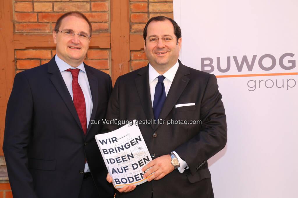 Andreas Segal (stv. CEO, CFO), Daniel Riedl (CEO), © Buwog AG/APA-Fotoservice/Schedl (31.08.2016)