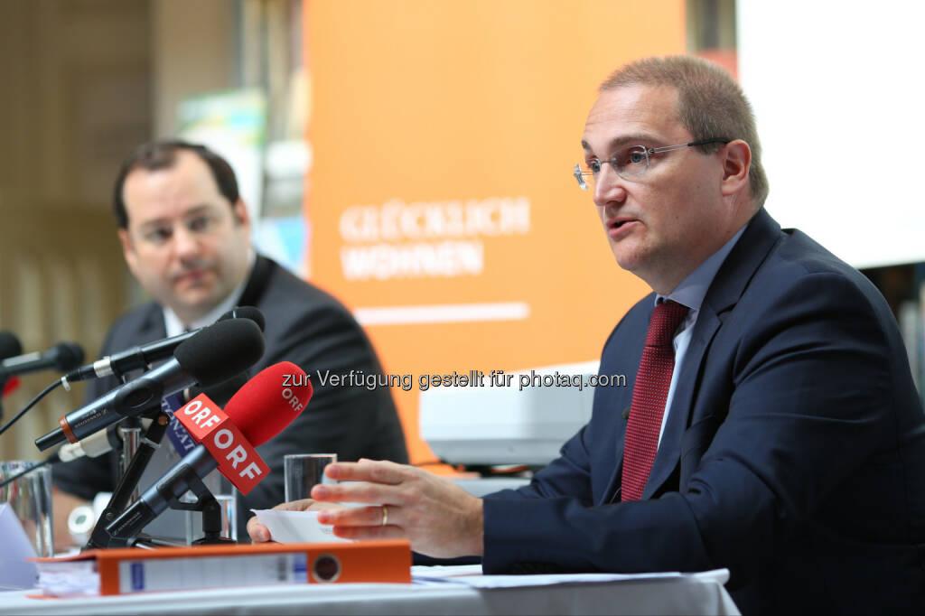 Daniel Riedl (CEO), Andreas Segal (stv. CEO, CFO), © Buwog AG/APA-Fotoservice/Schedl (31.08.2016)