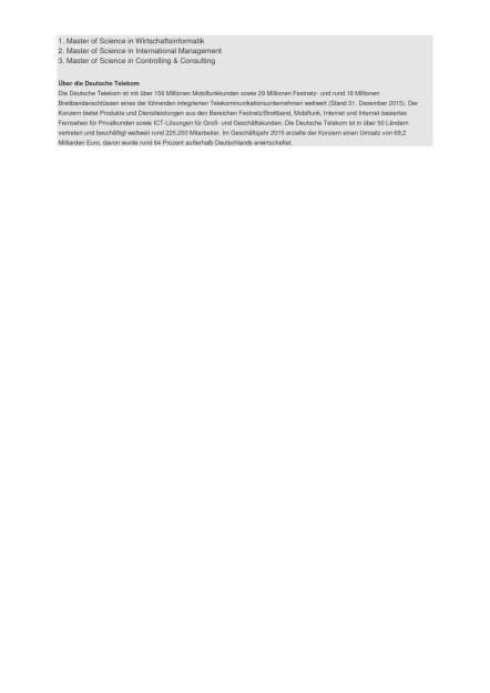 Deutsche Telekom: 2.200 Auszubildende und dual Studierende starten eine Berufsausbildung, Seite 2/2, komplettes Dokument unter http://boerse-social.com/static/uploads/file_1699_deutsche_telekom_2200_auszubildende_und_dual_studierende_starten_eine_berufsausbildung.pdf (31.08.2016)