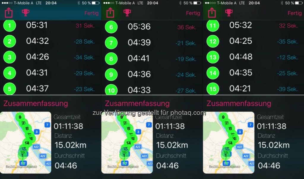 Immer 1x langsam und dann 4x in ca. 4:35 (01.09.2016)