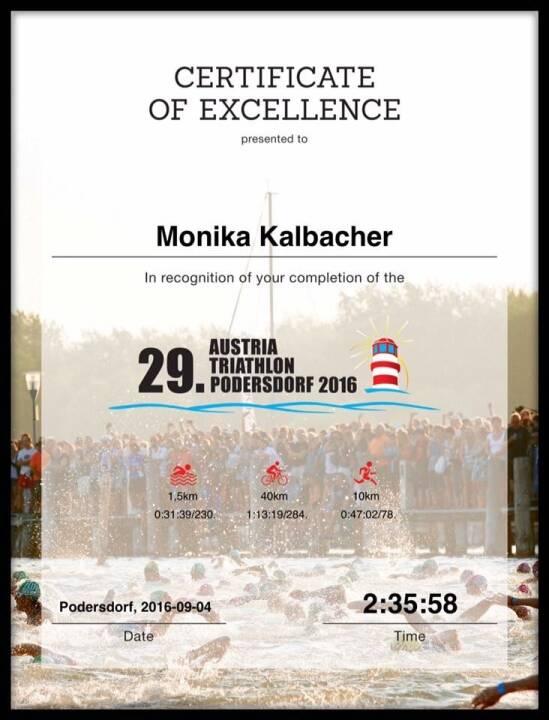 Monika Kalbacher, Triathlon Podersdorf
