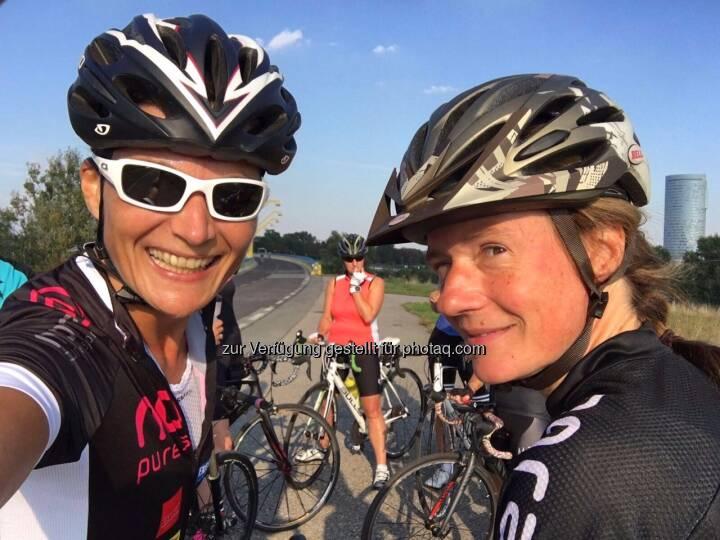 obligatorisches Pre-Start-Selfie mit Heidi Novy
