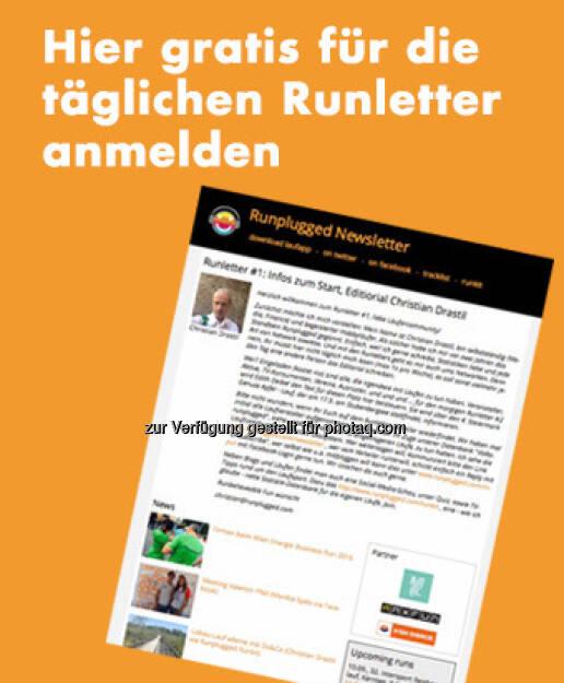Die #1 vom neuen Runletter ist heute erschienen, http://www.runplugged.com/newsletter (10.09.2016)