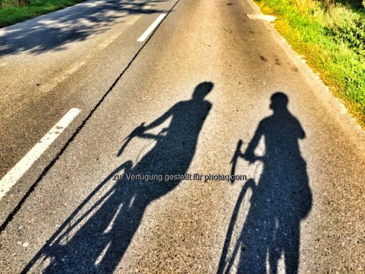 Radfahren, Schatten