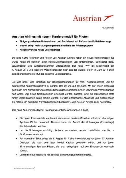 Austrian Airlines: Neues Karrieremodell für Piloten, Seite 1/2, komplettes Dokument unter http://boerse-social.com/static/uploads/file_1765_austrian_airlines_neues_karrieremodell_fur_piloten.pdf (13.09.2016)