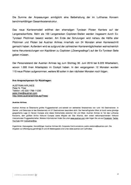 Austrian Airlines: Neues Karrieremodell für Piloten, Seite 2/2, komplettes Dokument unter http://boerse-social.com/static/uploads/file_1765_austrian_airlines_neues_karrieremodell_fur_piloten.pdf (13.09.2016)