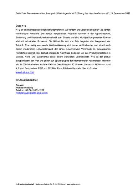 Kein Verfahren gegen K+S, Seite 2/2, komplettes Dokument unter http://boerse-social.com/static/uploads/file_1770_kein_verfahren_gegen_ks.pdf (13.09.2016)