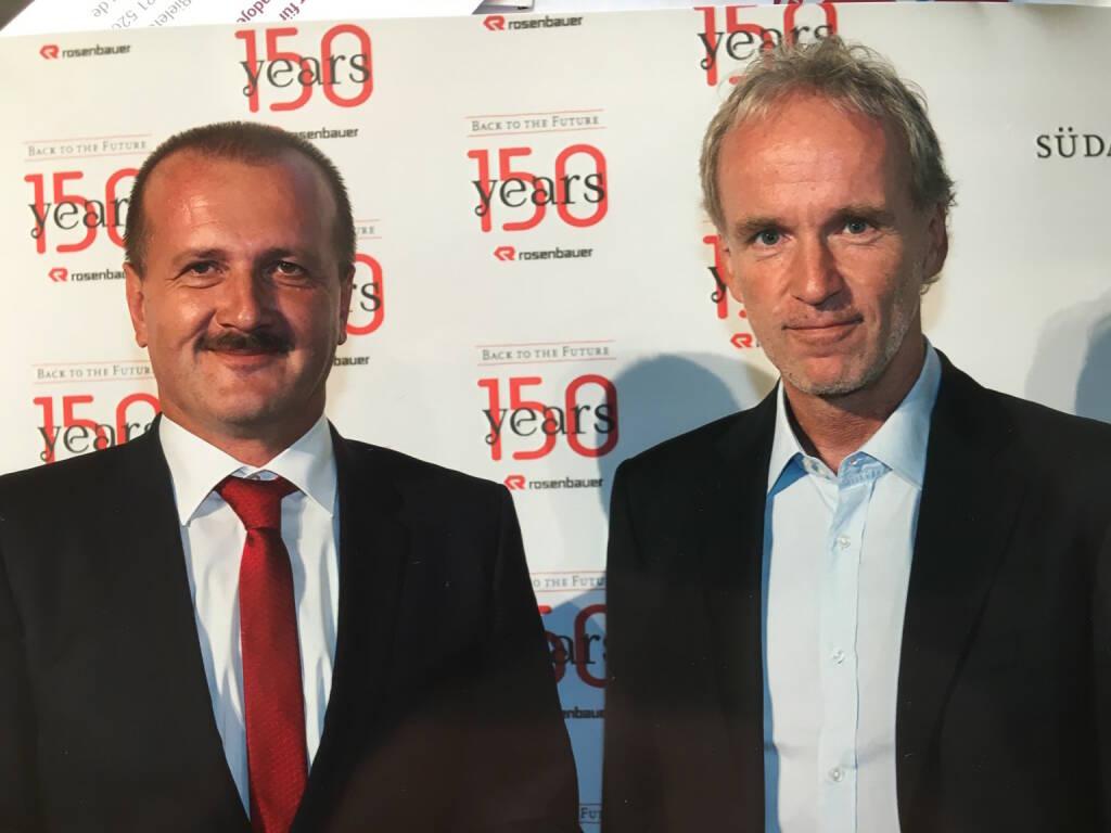 Mit Alois Wögerbauer, Christian Drastil bei 150 Jahre Rosenbauer (16.09.2016)