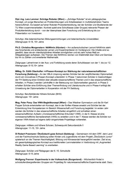 B&C Privatstiftung: Finalisten Bildungspreis, Seite 3/5, komplettes Dokument unter http://boerse-social.com/static/uploads/file_1792_bc_privatstiftung_finalisten_bildungspreis.pdf (19.09.2016)