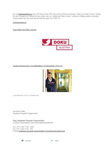 ProSiebenSat.1Puls4: Neuer Dokusender kabel eins Doku Austria, Seite 2/3, komplettes Dokument unter http://boerse-social.com/static/uploads/file_1793_prosiebensat1puls4_neuer_dokusender_kabel_eins_doku_austria.pdf (19.09.2016)