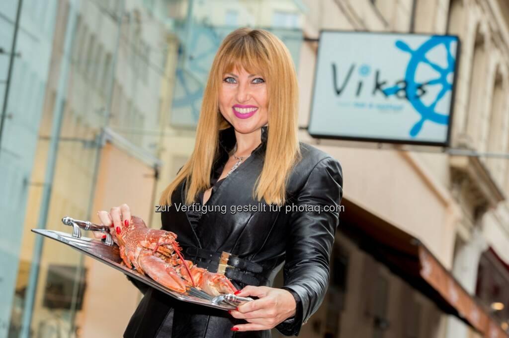 """Victoriya Pochodnya (Inhaberin & Gastronomin) : Neueröffnung Fischrestaurant """"Vikas"""" am 19.09 am Wildpretmarkt 3 : Fotocredit: Culinarius/APA-Fotoservice/Hörmandinger, © Aussender (19.09.2016)"""