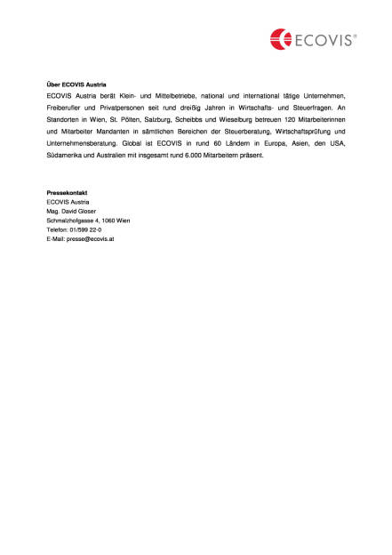 Ecovis: KMU- und Ausgliederungsexpertin an Bord, Seite 2/2, komplettes Dokument unter http://boerse-social.com/static/uploads/file_1796_ecovis_kmu-_und_ausgliederungsexpertin_an_bord.pdf (19.09.2016)