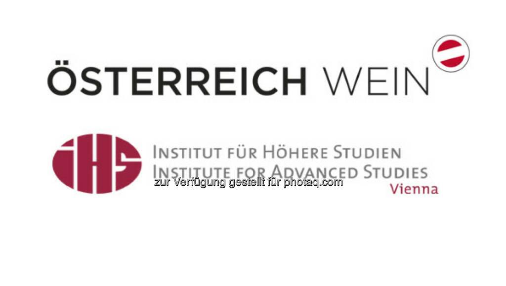 Logos Österreich Wein Marketing GmbH und Institut für Höhere Studien : Weinwirtschaft sichert in Österreich 75.000 Arbeitsplätze : Fotocredit: ÖWM/IHS, © Aussender (22.09.2016)