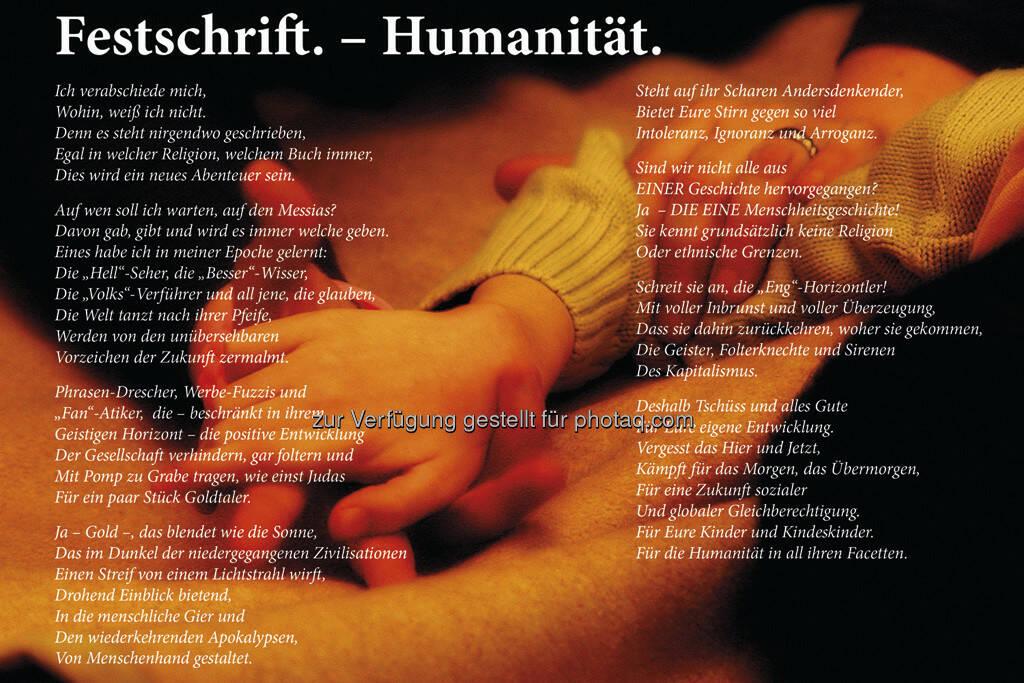 Festschrift. - Humanität, by Detlef Löffler, http://loefflerpix.com/ (26.04.2013)