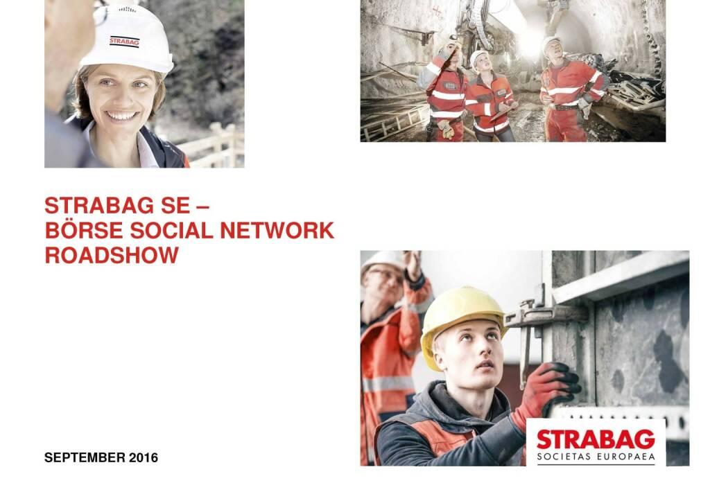 Strabag Börse Social Network Roadshow (29.09.2016)