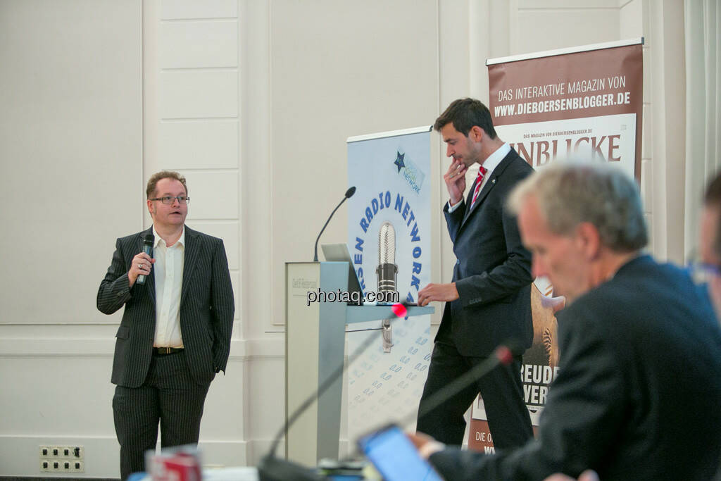 Gregor Rosinger (Rosinger Group), Michael Oplustil (Uniqa), © Martina Draper/photaq (29.09.2016)