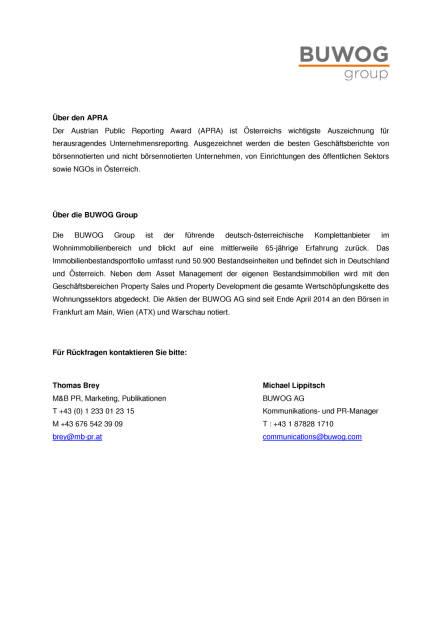 Buwog: Weitere Auszeichnung für Geschäftsbericht, Seite 2/2, komplettes Dokument unter http://boerse-social.com/static/uploads/file_1856_buwog_weitere_auszeichnung_fur_geschaftsbericht.pdf (30.09.2016)